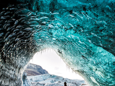 Alone in an ice cave