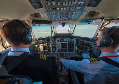 Cockpit airplane Höfn-Akureyri