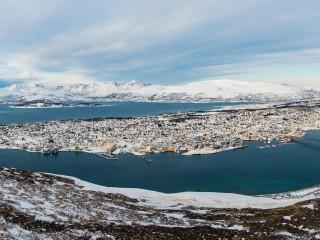 Panoramic view of Tromso (Norway)