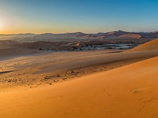 Golden glow over Sossusvlei